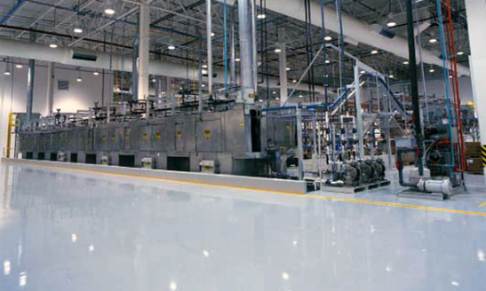 Factory warehouse flooring